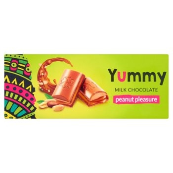Шоколад Yummy Peanut pleasur, 255 г